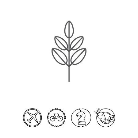 Icon of tree branch with leaves