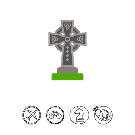 Vector Icon Of Celtic Cross Christian Symbol Celtic Culture