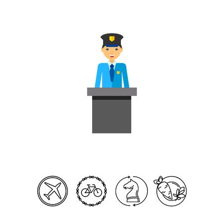 税関職員。コントロール、チェック、空港。空港のコンセプトです。空港、旅行、コントロール、習慣のようなトピックに使用することができます。 写真素材 - 79136422