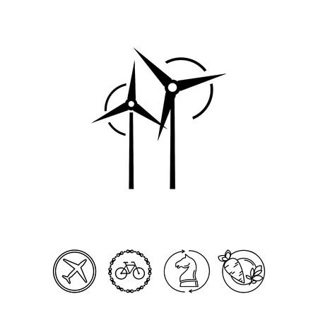 Wind turbines icon Illustration