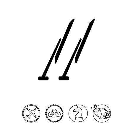 Monochrome vector icon of two automobile windscreen wipers