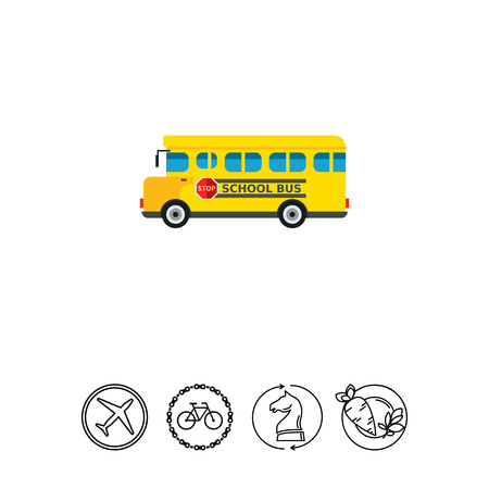 Yellow School Bus Icon