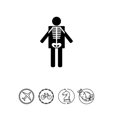 X-ray Concept and Human Radiography Icon