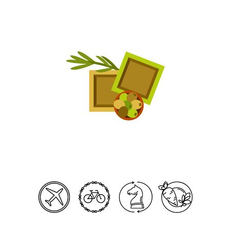 Icon of olive oil soap bars. Traditional cosmetics, bath, hygiene. Skincare concept. Can be used for topics like beauty, lifestyle, spa
