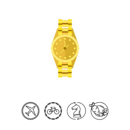 prestigious: Gold Watch Icon