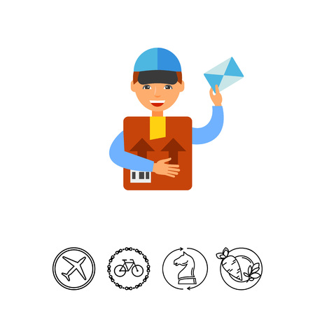 Package delivery icon.