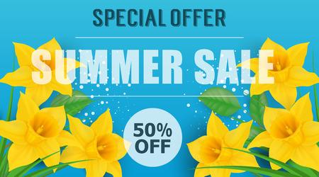 Special Offer Summer Sale Lettering Illustration
