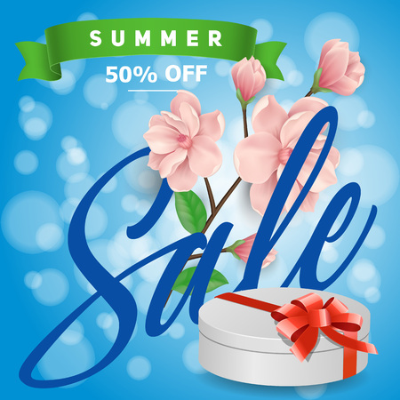 Summer Sale Lettering and Gift