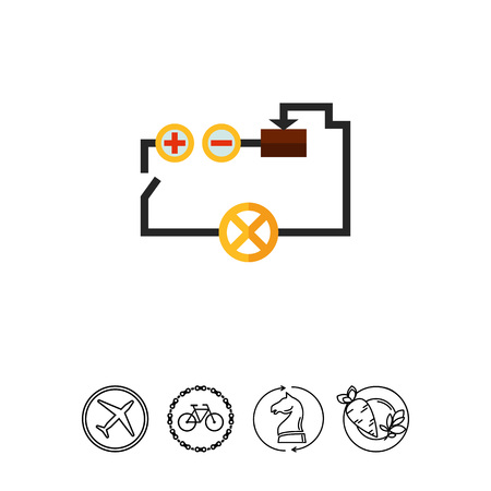 Electrical circuit icon