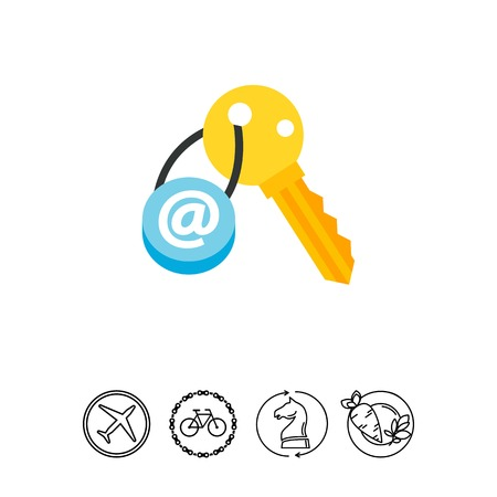Email key concept icon