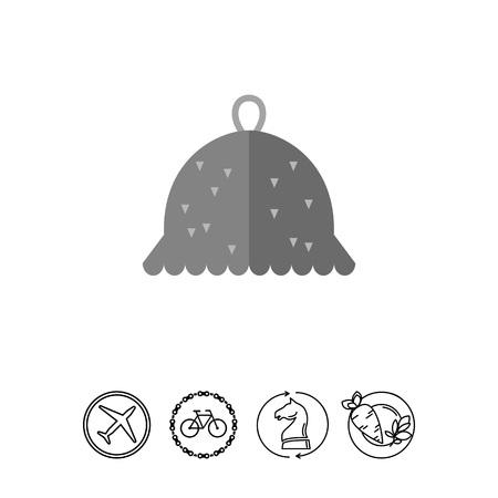 Felt hat for sauna icon