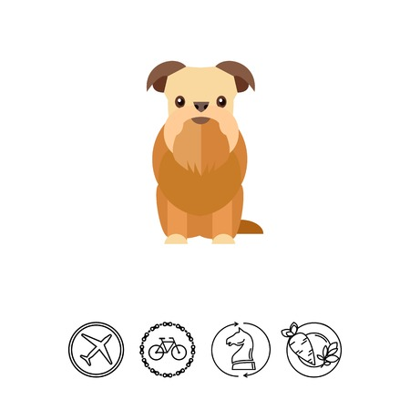 Griffon bruxellois dog icon Векторная Иллюстрация
