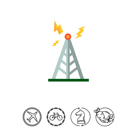 Transmitting tower icon Illustration