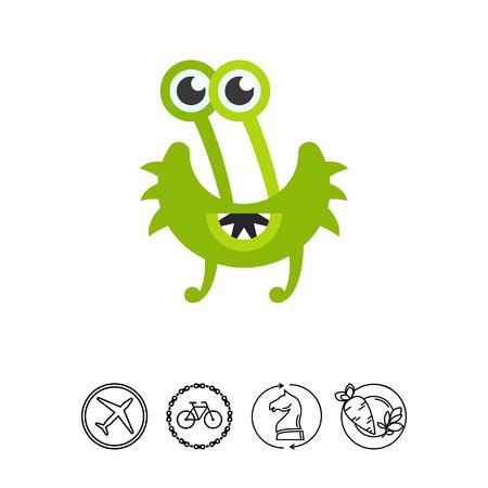 Virus Cartoon Character Icon 9