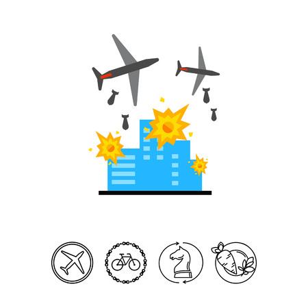 bombing: War Vector Icon Illustration