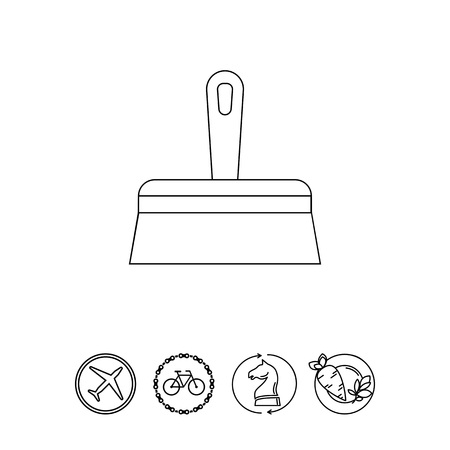 scraping: Wide Putty Knife Icon Illustration