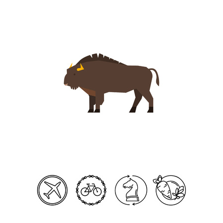 Wisent icon Illustration