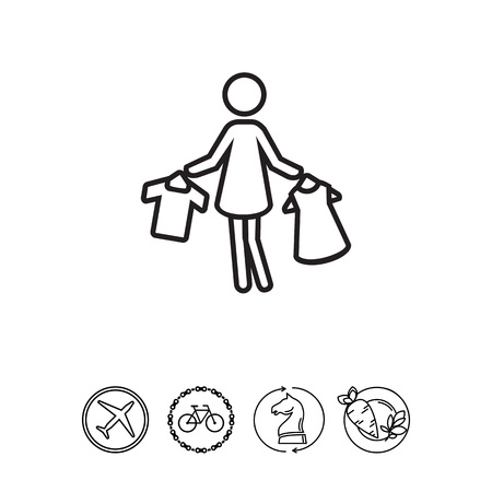 Woman holding clothes on hangers