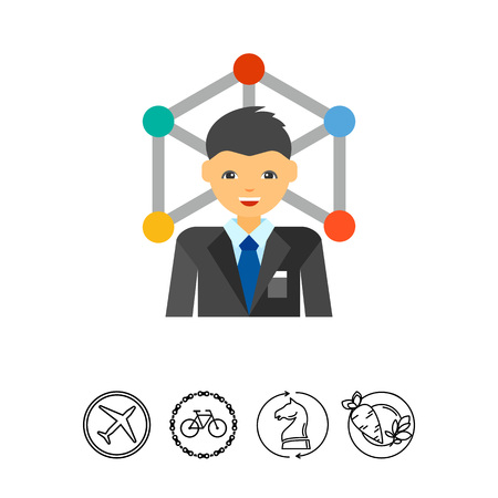 ceo: Business network vector icon
