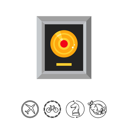 Platinum lp in silver frame icon