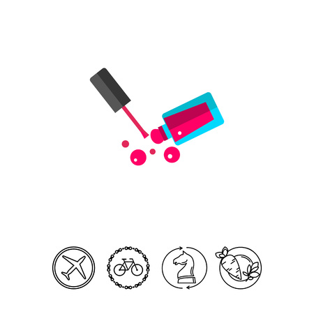 Pink nail lacquer icon