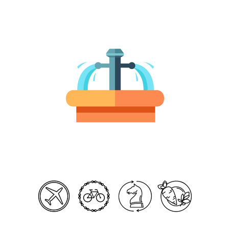 Icon of mineral spin. Healthcare, resort, pure water. Czech Republic concept. Can be used for topics like beauty, health, travelling Illustration