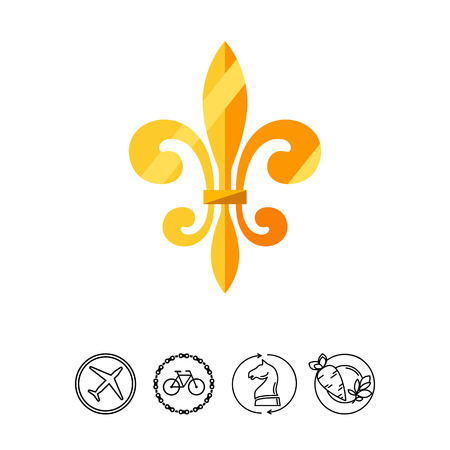 Royal French lily icon Illustration