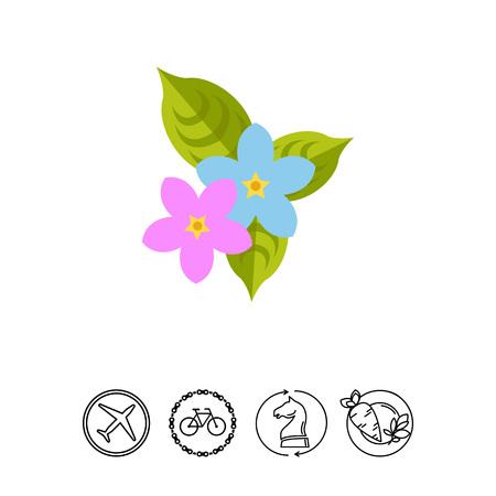 Sampaguita flowers icon Illustration