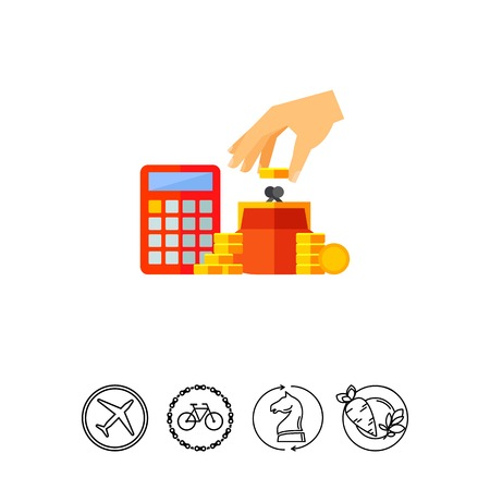 Saving money concept icon Illustration