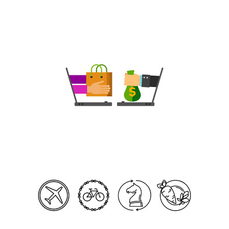Shopping Online Vector Icon