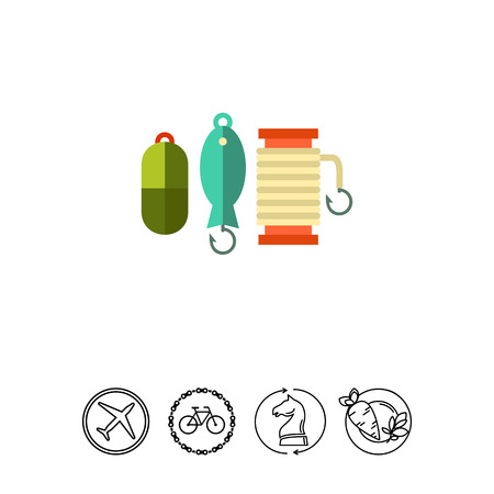 Spoon baits collection vector icon