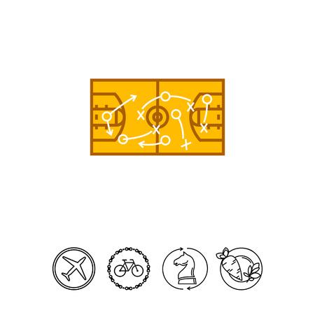 Strategical Basketball Game Plan Icon