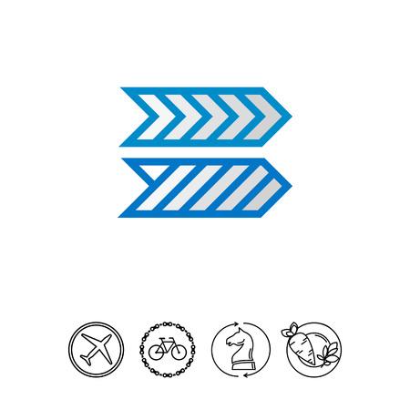 Striped Arrows Vector Icon