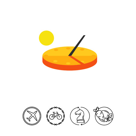 Sundial Vector Icon