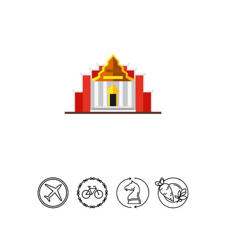 Temple Benchamabophit icon Illustration
