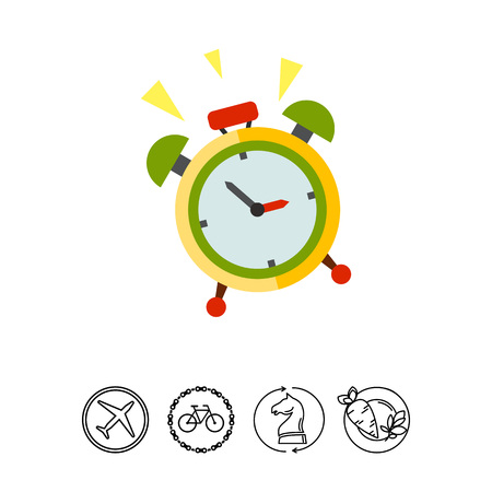 wakeup: Wake-up Time Vector Icon