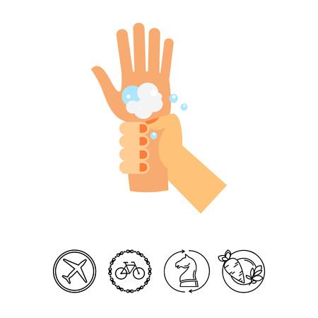 lavamanos: Icono de las muñecas que se lava Vectores