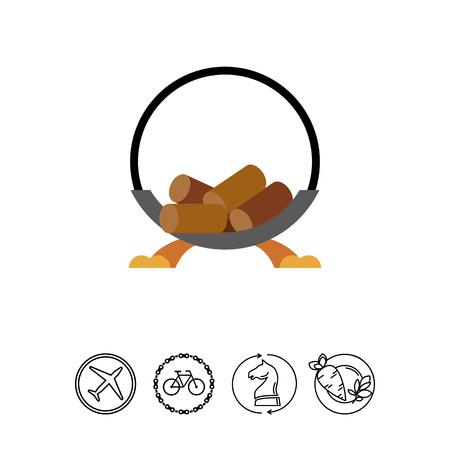 lounging: Wood holder icon