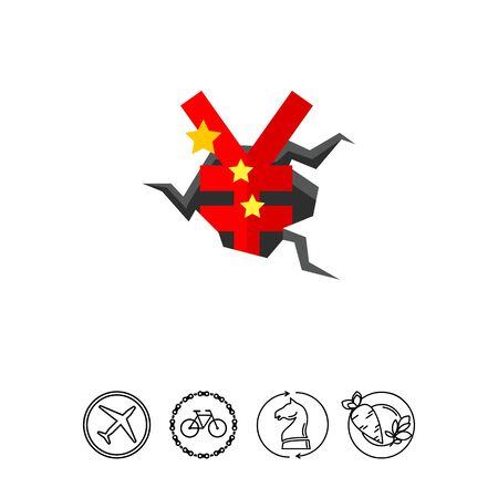 destructive: Yen Money Crisis Icon