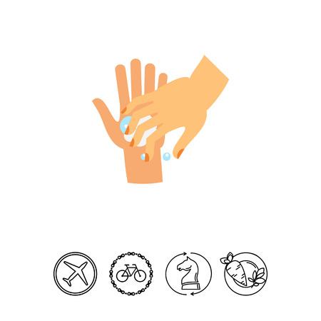 Washing Fingernails Icon