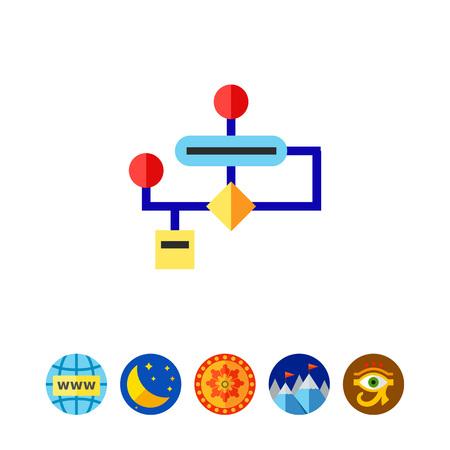 Algorithm Flowchart Icon Illustration