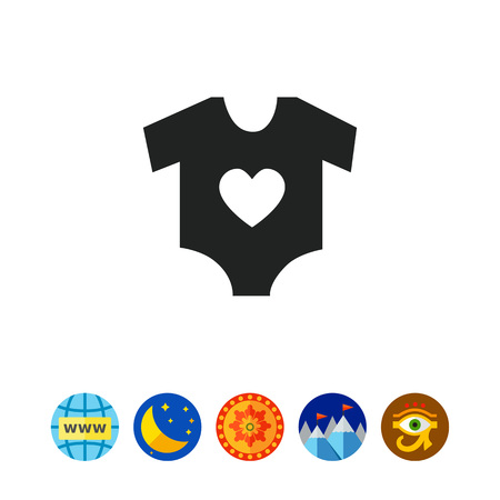 Baby onesie vector concept illustration