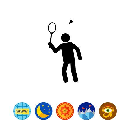 Badminton Simple Icon