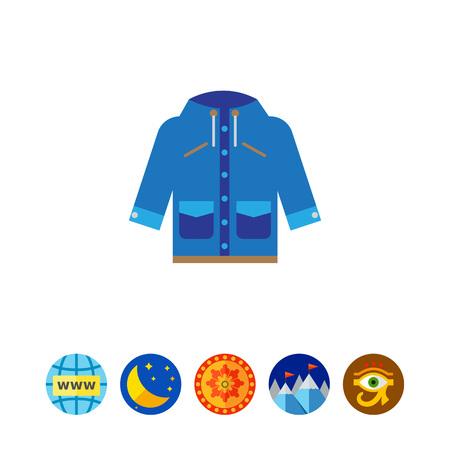 raincoat: Blue raincoat with hood