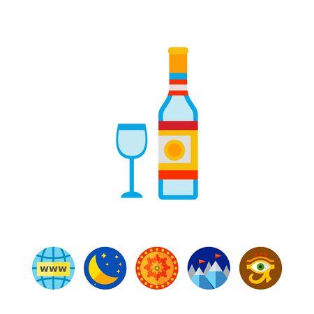 Bottle of Vodka Icon