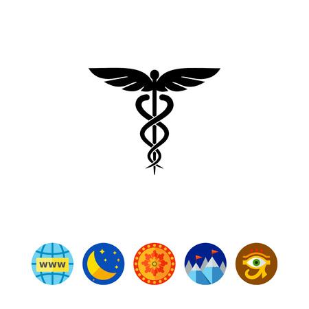 Caduceus Symbol Icon Illustration