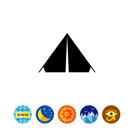 to spend the summer: Camp Tent Icon