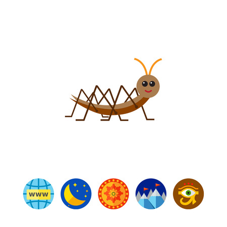 Cartoon locust icon Illustration