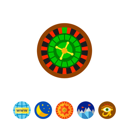 wheel of fortune: Casino roulette wheel. Club, luck, betting. Casino concept. Can be used for topics like gambling, marketing, nightlife.