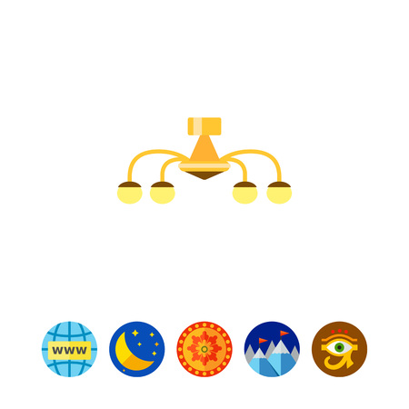 Chandelier icon Illustration
